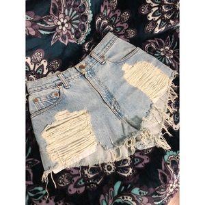 Levi's Furst of a Kind Distressed Jean Shorts